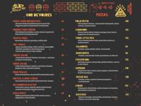 1UP Hor De'Voures & Pizza Menu