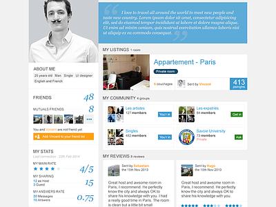 Public Profile V2 ui webdesign profile trampolinn public profile