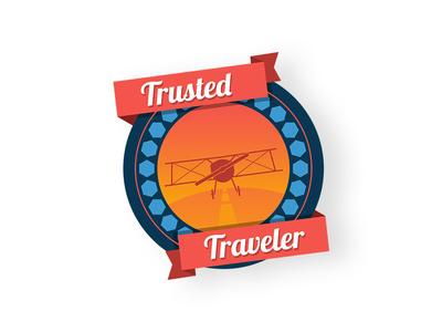 Trusted Traveler badge badge travel traveler trampolinn sticker