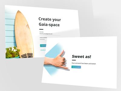 Login gaia-surf - from NZ surf as sweet form login web app ux ui