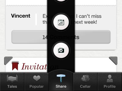 App design modal view sharing options app design modal view