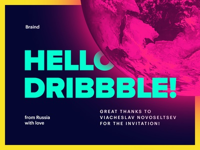 Hello Dribbble! first shot hello debut