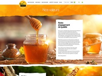 Honey web site design 3