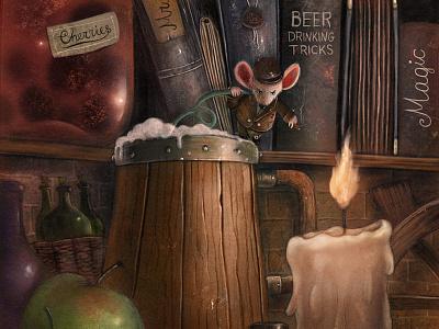 Beer Drinker mouse fantasy