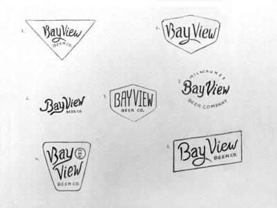 Bay View Beer Company | Sketches badge design sean quinn bay view milwaukee brewing beer badge pen illustration branding logo design hand drawn drawing