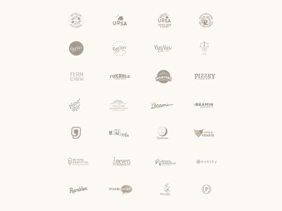 Decade of Logos designer minneapolis sean quinn symbol mark logos system identity brands brand icon typography vector branding design logo illustration