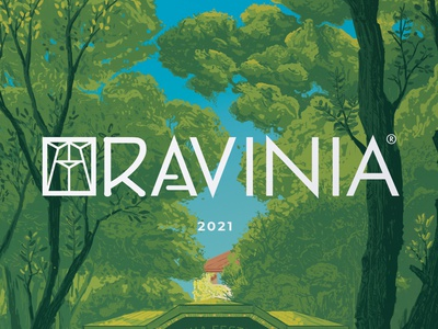 Ravinia Poster 2021 green drawing artist tablet photoshop painting digital music poster art illustration designer ravinia