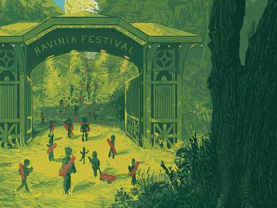 Ravinia Poster 2021 detail designer illustrator artist gig venue outdoor concert contest poster festival ravinia wacom photoshop painting digital art design drawing illustration