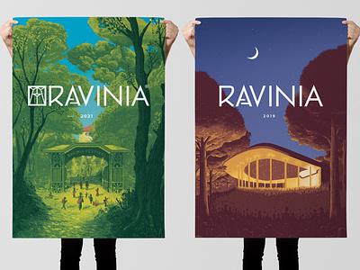 Ravinia Posters digital painting photoshop illustrator gate tree competition poster artwork ravinia art design hand drawn drawing illustration
