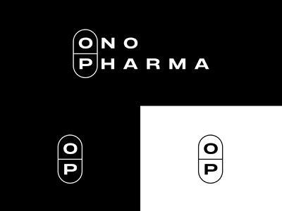 Ono Pharma pill pharmacy vector minimal branding typography logodesign symbol design simple logo