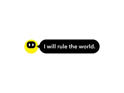 I will rule the world ui vector world rule chatbot chat robot