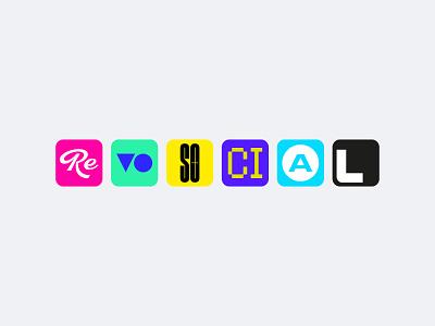 RevoSocial vector branding typography social icons icon ui logodesign design logo