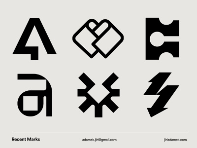 Recent Marks mark minimal vector typography branding symbol logodesign design simple logo