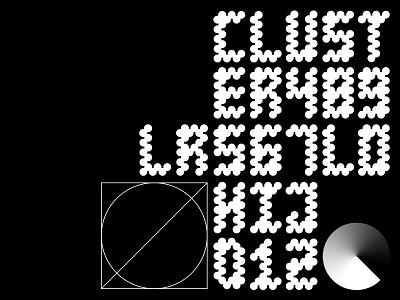 Kolika custom geometric letters letter font typeface typography design simple