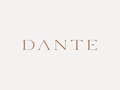 Dante design custom minimal vector branding logodesign typography logo simple