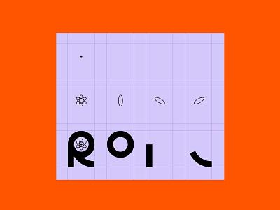 Reactor decomposed icon minimal vector symbol branding logodesign typography design simple logo