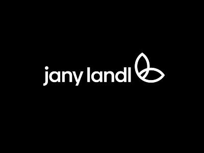 Jany Landl logo design logo mark merch trainer vegan leaves l muscle vector symbol logodesign simple