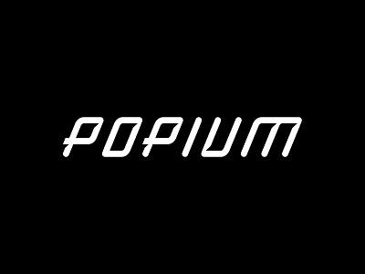Popium branding vector logodesign typography design logo simple