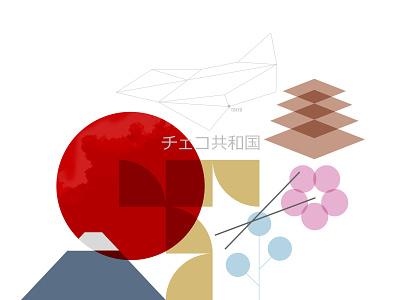 AP Tokyo team czech olympic tokyo vector illustration branding design simple