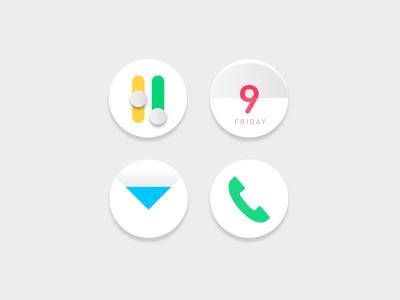 Icon set set icons simple settings phone mail calendar icon