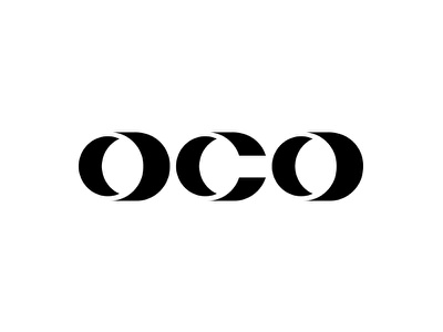 Oco custom font typography package minimal soya logo milk design