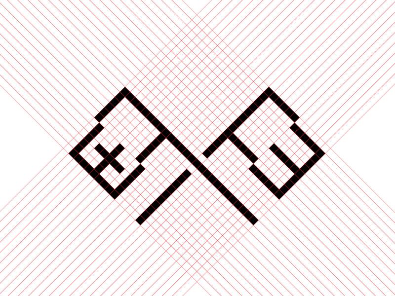 Plus/Minus minimalism logodesigner designer construction logodesign logo grid minus plus flags