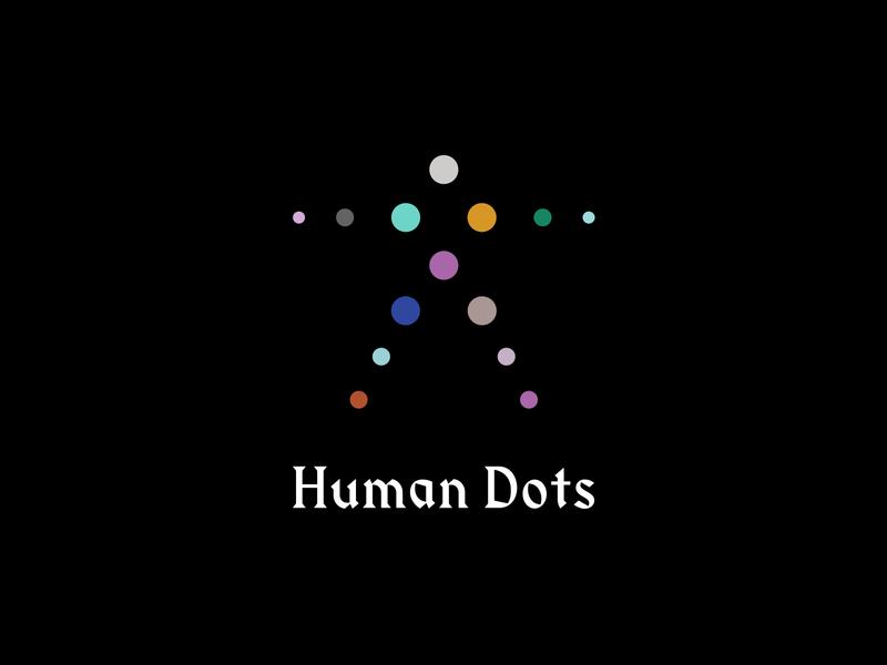 Human Dots simple logodesign logo dot dots colors symbol human