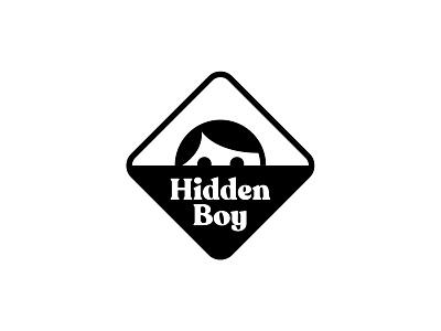 Hidden Boy mark vector bw minimal logodesign branding symbol design simple logo