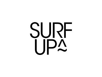 Surf up vector bw minimal logodesign branding symbol typography design simple logo