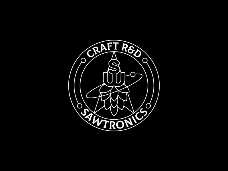 Sawtronics branding pcb label beer mark logodesign simple design symbol logo