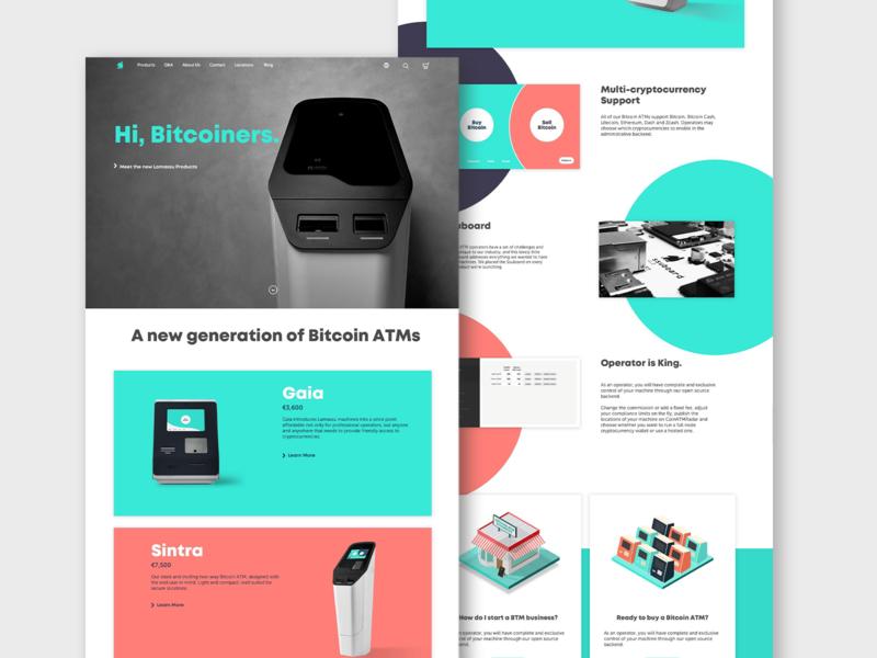 Lamassu Homepage crypto homepage landingpage blockchain cryptocurrency bitcoin lamassu website product design ux ui