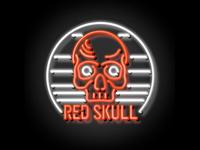 Neon Red Skull