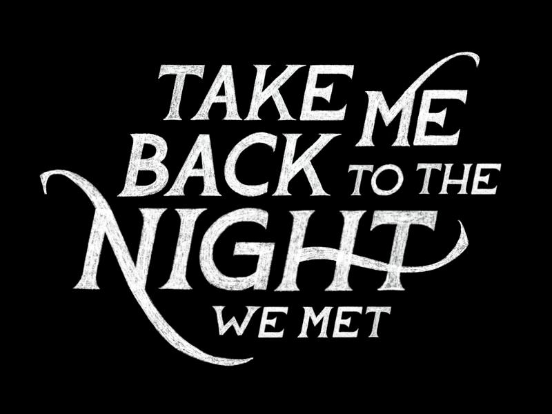 Take Me Back to the Night We Met WIP