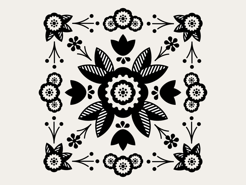 Folk Art folk art folkart flowers pattern design pattern illustrator design graphic design