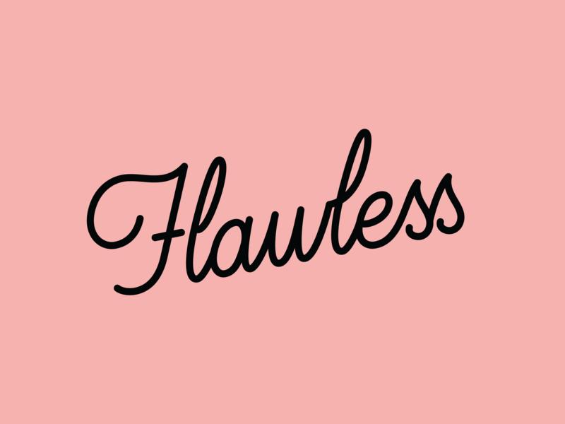 Flawless identity design brand identity logo design logo monoline branding letter design illustrator hand lettering design handlettering typography graphic design lettering