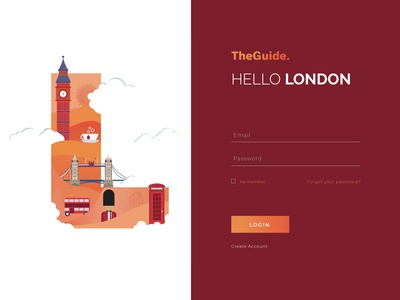 Travel Guide Login Page
