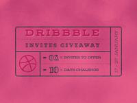 Dribbble Invitation Giveaway ( +PSD Freebie )