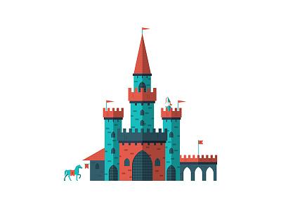 Castle flat vector illustration graphic design