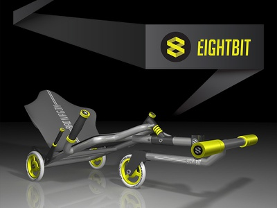 Badwagon 3D Render industrial design maya 3d