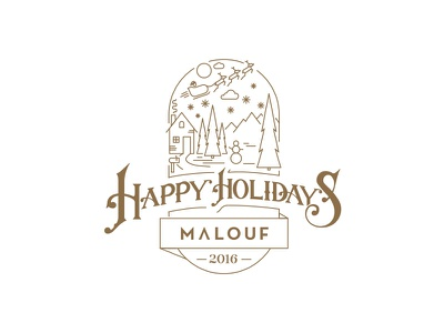 Holiday Design typography graphic design