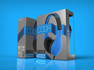 Coda Headphone Packaging packaging graphic design