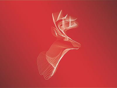 Deer illustration graphic design
