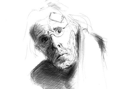 "Bruce Dern ""Nebraska"" art sketch drawing"