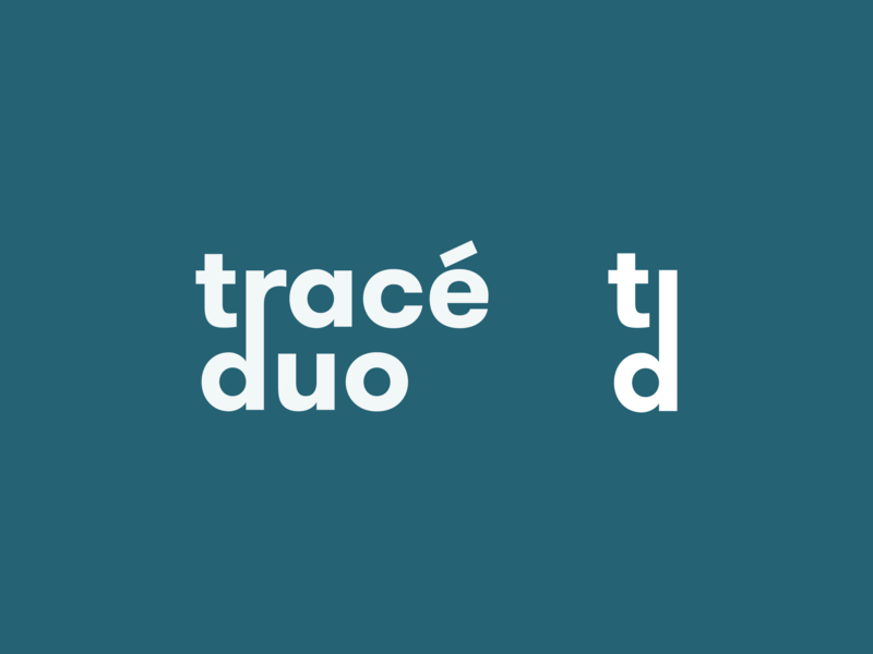 Tracé Duo logo type typography minimal logo flat design branding