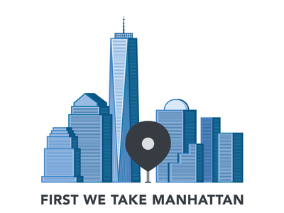 First We Take Manhattan - Sticker