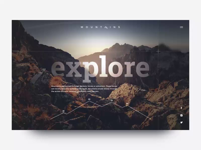 Mountains Website mountain mountains typography web branding design animated transition ux ui after effect logo aftereffects motion after effects animation
