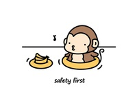 Safety first ~ 🐵🍌🎵