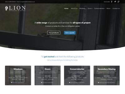 Lion Windows website concept