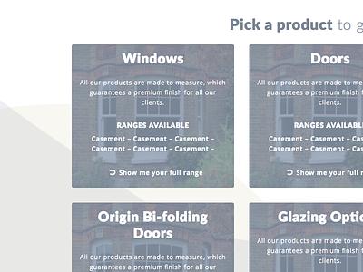 Updated Product Chooser - Lion Windows Project background light grey gold project design waves graphics website design website