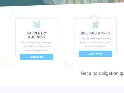 Redmills Refurbishment - Website Concept